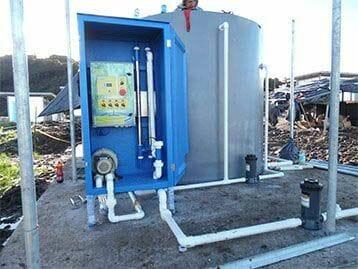 proceso terciario planta de tratamiento de aguas residuales