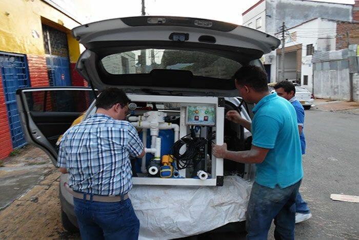 facil transporte de potabilizadora de agua